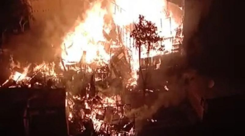 Kebakaran di Padangsidimpuan, 6 Rumah Warga Hangus